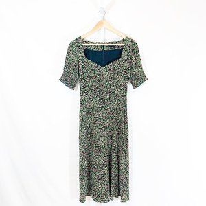 J.Crew Smocked-Sleeve Midi Dress